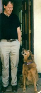 Photo of Dan Anderson, with his previous dog, Holly
